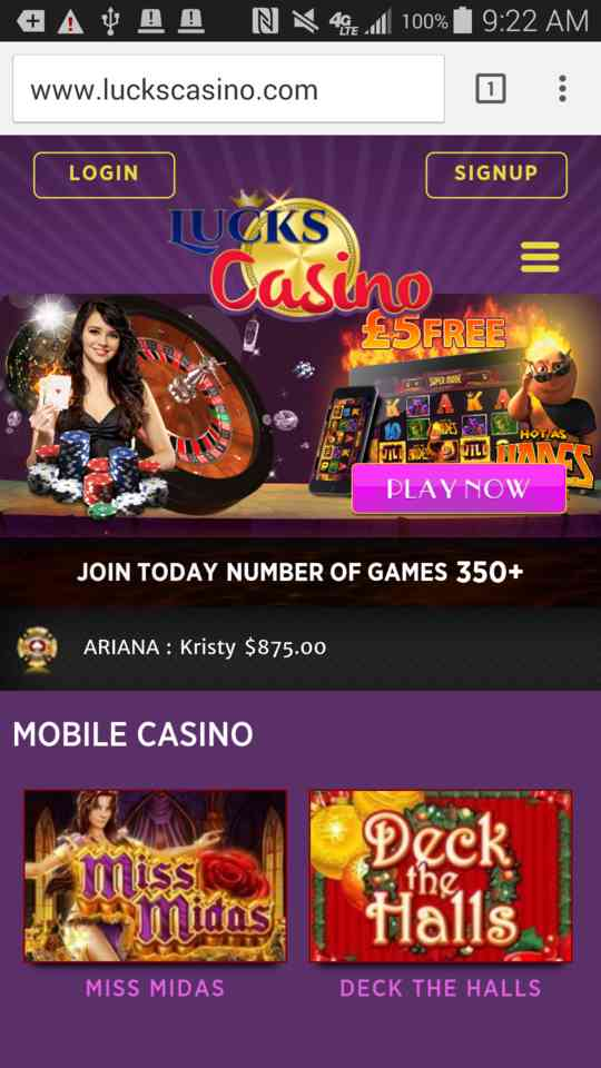Mobile Casino Payout 27225